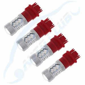 Well Made Cree Led 3157 3357 4157 Red Turn Signal Bulb Light 6000lm Lamps X4