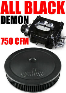Street Demon 1904bk 750 Cfm Vacuum Carburetor Black With Black Air Cleaner Combo