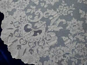 Oh So Beautiful Antique French Alencon Lace Oval Tablecloth Or Bridal Veil