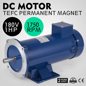 Dc Motor 1 hp 56c Frame 180v 1750rpm Tefc Magnet Dominate Dynamic Durable Newest
