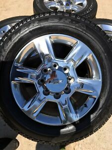 20 20 Inch Chevy Silverado Gmc Sierra 2500 3500 2018 Oem Wheels Rims Tires