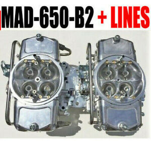 Demon Mad 650 b2 650 Cfm Gas Blower Supercharger Carbs With Fuel Lines Free Hat