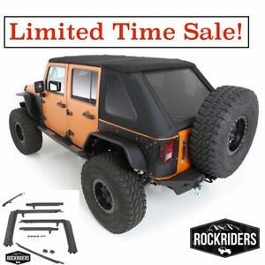 2007 2017 Jeep Wrangler Unlimited All In One Protek Soft Top Hardware Kit