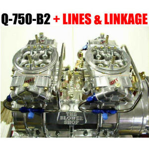 Quick Fuel Q 750 b2 750 Cfm Clear Supercharger Gas Blower Carbs W Lines Linkage