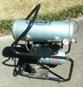 Gast Compressor 2hah 91t m200x Oil less Electric 1 4 Hp 100 Psig 7 Bar Emerson