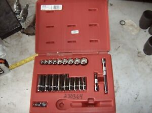 J52136 Proto 3 8 Drive Socket Set With Case No Ratchet 21 Pieces