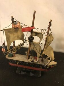 Model Ship 9 X2 X2 Vintage Wood Of Constitution C10pix4size Details Make Offer
