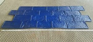 Brand New Heavy Duty Rubber Slate Stone Concrete Stamp Mat 20 X 47