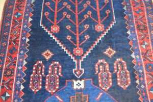 4 6x10 8 Geometric Genuine S Antique Persian Tribal Bijar Handmade Wool Area Rug