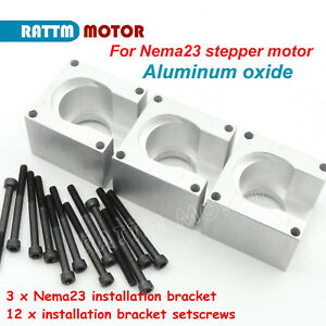 3pcs Nema 23 Stepper Motor Mount Aluminum Bracket Holder Support Base Cnc Router