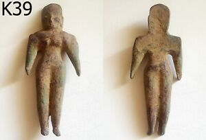 Bronze Ancient Teracotta Mother Goddess Torso Indus Valley 600 Bc K39