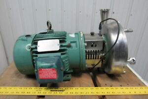Reliance P18g1017k 3hp 1730rpm 230 460v 2 1 2 x2 Stainless Steel Pump