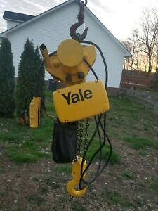 Yale 3 Ton Electric Chain Hoist With Motorized Trolley 230 460 Volts