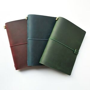 Vintage Genuine Leather Traveler s Notebook Bullet Journal Diary Planner Gifts
