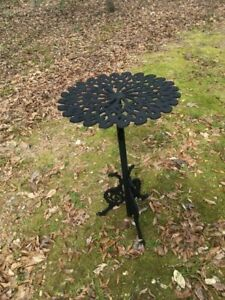 Vintage Cast Iron Patio Table With Griffis Legs