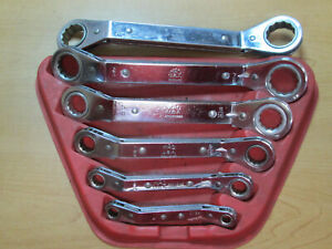 6 Pc Mac Tools Metric Ratcheting Wrench Offset Sae 1 4 15 16ths