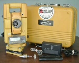 Topcon Gpt 1002 Pulse Total Station W Case And Charger Electronic Gpt 1000
