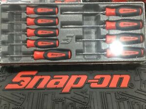 snap On 9 Pc Soft Grip Red Torx Instinct Screwdriver Set Sgdtx90br