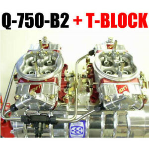 Quick Fuel Q 750 b2 750 Cfm Blower Supercharger Carbs T block Line Kit