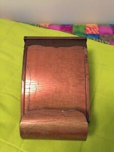 Rare Antique Arts And Crafts Copper Mailbox Newspaper Holder