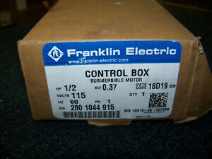 Franklin Electric Qd Control Box Submersible Motor 1 2 Hp 115v 60 Hz 2801044915