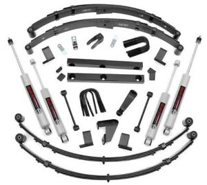 87 96 Jeep Yj Wrangler 4 Rough County Lift Kit With N3 Series Shocks 620n2