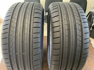 2 Used Tire 245 35 20 Dunlop Sp Sport Maxx Gt Dsst Run Flat With 8 32s