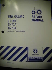 New Holland Tractor Tn60a Tn70a Tn75a Transmission Repair Service Manual