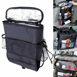 Black Car Auto Back Seat Organizer Holder Multi Pocket Travel Storage Bag Hanger