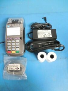 Verifone Vx520 Credit Card Terminal Chip Reader With Power Supply Cord
