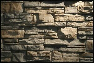 Brand New Mountain Ledge Quick Fit Stone Veneer Rubber Mold 19x16x2 1 2