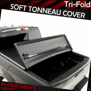 Lock Tri Fold Soft Tonneau Cover For 2007 2013 Gmc Sierra 1500 2500hd 5 8 Ft Bed