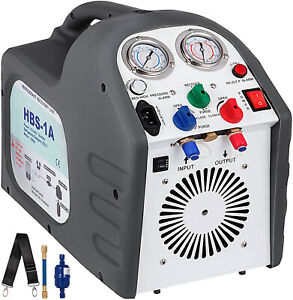 110v 60 Hz Portable Refrigerant Recovery Machine Iec Connector Hfc 1 2 Hp