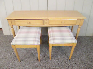 57626 Ethan Allen Library Sofa Table With 2 Stools 22 01338 15 93010