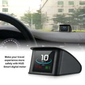 Led Obd2 Scanner Digital Car Gps Speedometer Hud Head Up Display Overspeed Black