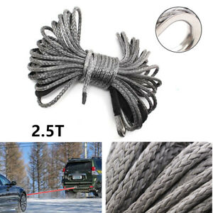 50ft6mm Nylon Synthetic Winch Line Cable Rope Functional Fit For Car Atv Utv
