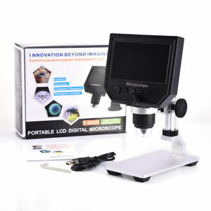 1080p Digital Microscope 4 3 Hd Oled 3 6mp 1 600x Magnifier G600 Portable Lcd