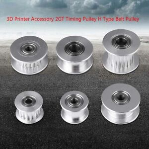 3d Printer Aluminum Gt2 Bore Idler Pulley Ball Bearing For 3 4 5 6mm Timing Belt