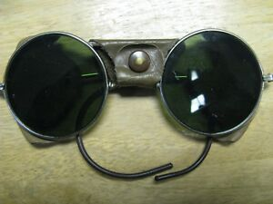 Vintage Welsh Steampunk Goggles With Green M 2 0 Lens