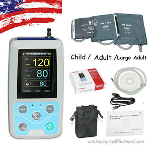 3 Cuffs Abpm50 24 Hours Ambulatory Blood Pressure Monitor Nibp Pr pc Software