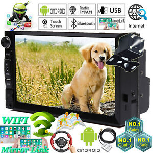 Touchscreen Car Stereo Radio Double Din Gps Wifi Player camera For Chevrolet Gmc