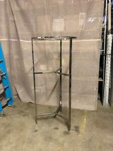 Round Clothing Racks Rounders Folding Chrome Used Store Fixtures Tripod Adjust