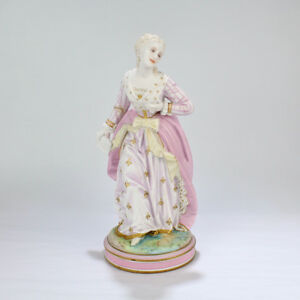 Antique Vion Baury French Bisque Figurine Of A Young Lady Beauty Girl Pc