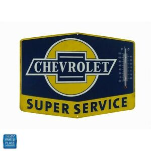 Chevrolet Super Service Thermometer Tin Man Cave 14 X 10 27