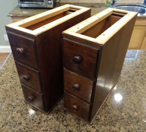 6 Vintage Singer Treadle Sewing Machine Oak Wood Drawers In Frames Locking