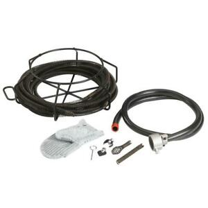 Ridgid 59365 A 30 Cable Kit With C 8 5 8 In X 7 1 2 Ft Drain Cable Cutters Etc