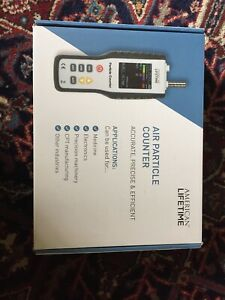 American Lifetime Air Quality Meter Particle And Dust Detecting Counter W case