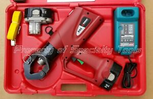 Burndy Pat644xt Hydraulic Battery Operated Crimper Dieless Crimping Tool 11 Ton