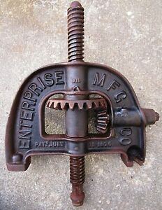 Enterprise Sausage Stuffer Fruit Wine Lard Apple Press 4 Qt Dated Top Arch Gears