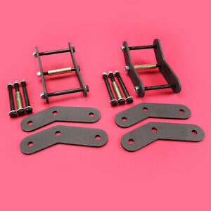 Front 2 Rear 2 Shackle Relocation Lift Kit Jeep Wrangler 1987 1995 Yj